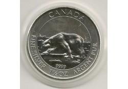 Km ??? Canada 8 dollar 2013 IjsbeerUnc 1½ Ounce zilver