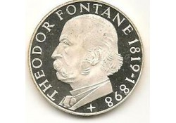 Km 125.1 Duitsland 5 mark 1969 G Proof Theodor Fontane