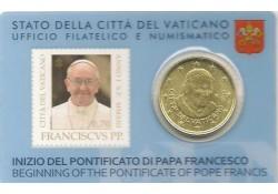 50 Cent Vaticaan 2013 Unc in blister met zegel nummer 3