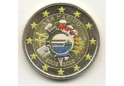 2 Euro San Marino 2012 10 jaar euro Gekleurd 171/1