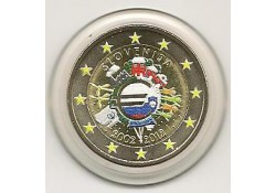 2 euro Slovenië 2012 10 jaar euro gekleurd 155/4