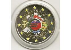 2 euro Slowakije 2012 10 jaar euro gekleurd 156/5