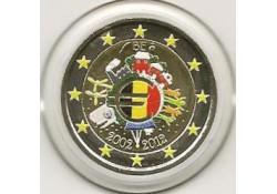 2 Euro België 2012 10 jaar Euro Gekleurd 137/4