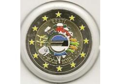 2 Euro Estland 2012 10 Jaar Euro Gekleurd 144/4