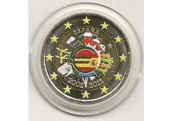 2 Euro Spanje 2012 10 Jaar Euro Gekleurd 157/4