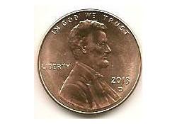 KM??? U.S.A. 1 Cent 2013 D Unc