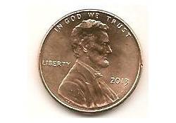 KM??? U.S.A. 1 Cent 2013 P Unc
