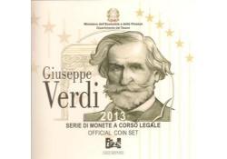 Bu set Italië 2013 met de 2 Euromunt comm.Verdi