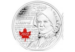 Km ??? Canada 25 Cents 2013 de Laura Secord Gekleurd