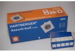 Hb box met 500 zelfklevende munthouders voor de euro-maten