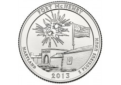KM 545 U.S.A ¼ Dollar Fort McHenry 2013 D UNC