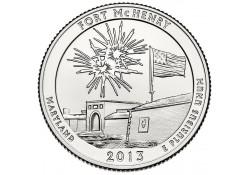 KM 545 U.S.A ¼ Dollar Fort McHenry 2013 P UNC