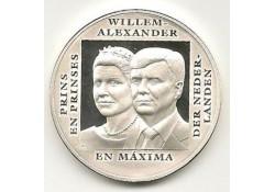 Penning Zilver Alexander Maxima & Ariane
