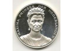 Penning Zilver Maxima prinses der Nederlanden