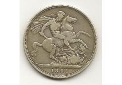 Km 765 Groot Britannië 1 Crown 1891 Zf-