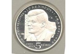 San Marino 2013 5 Euro Zilver John F. Kennedy in orig. Blister