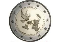 Monaco 2013 2 euro 20 jaar un lid Unc