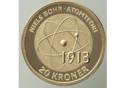 Km ??? Denemarken 20 Kroner 2013 Niels Bohr's atomic model