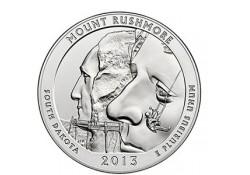 KM 546 U.S.A ¼ Dollar Mount Rushmore 2013 D UNC