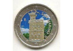 2 Euro San Marino 2013 Gekleurd Type 14
