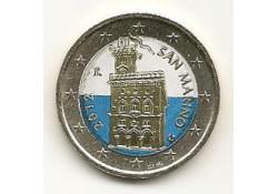 2 Euro San Marino 2012 Gekleurd Type 2