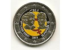 2 Euro België 2011 100 jaar int. vrouwendag Gekleurd 127/2