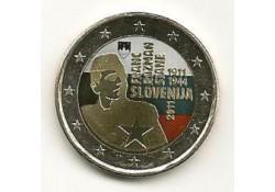 2 Euro Slovenië 2011 Franc Rozman-Stane gekleurd 122/1