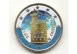 2 Euro San Marino 2013 Gekleurd SM/12