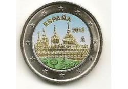 2 Euro Spanje 2013 Klooster El Escorial Gekleurd 182/7