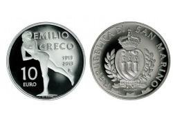 San Marino 2013 10 euro Emilio Greco Incl doosje & certificaat