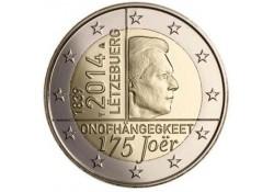 2 Euro Luxemburg 2014 175 jaar onafhankeliljkheid UNC