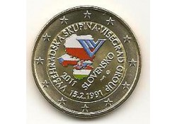 2 euro Slowakije 2011 20 jaar visegradgroep Gekleurd 123/1
