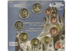 Bu set Spanje 2014 World Money Fair Berlin met 2x 2 euro