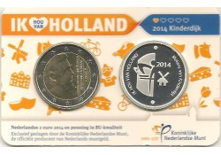 Nederland 2014 2 Euro Holand coin Fair in coincard met Zilveren