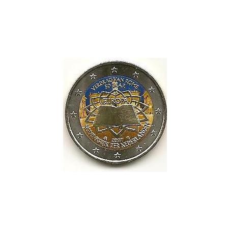 2 euro Nederland 2007 Verdrag van Rome Gekleurd 044/2