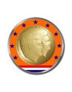Gekleurde euromunten